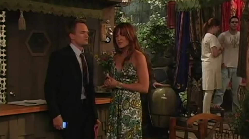 Barney plotting his night with Robin