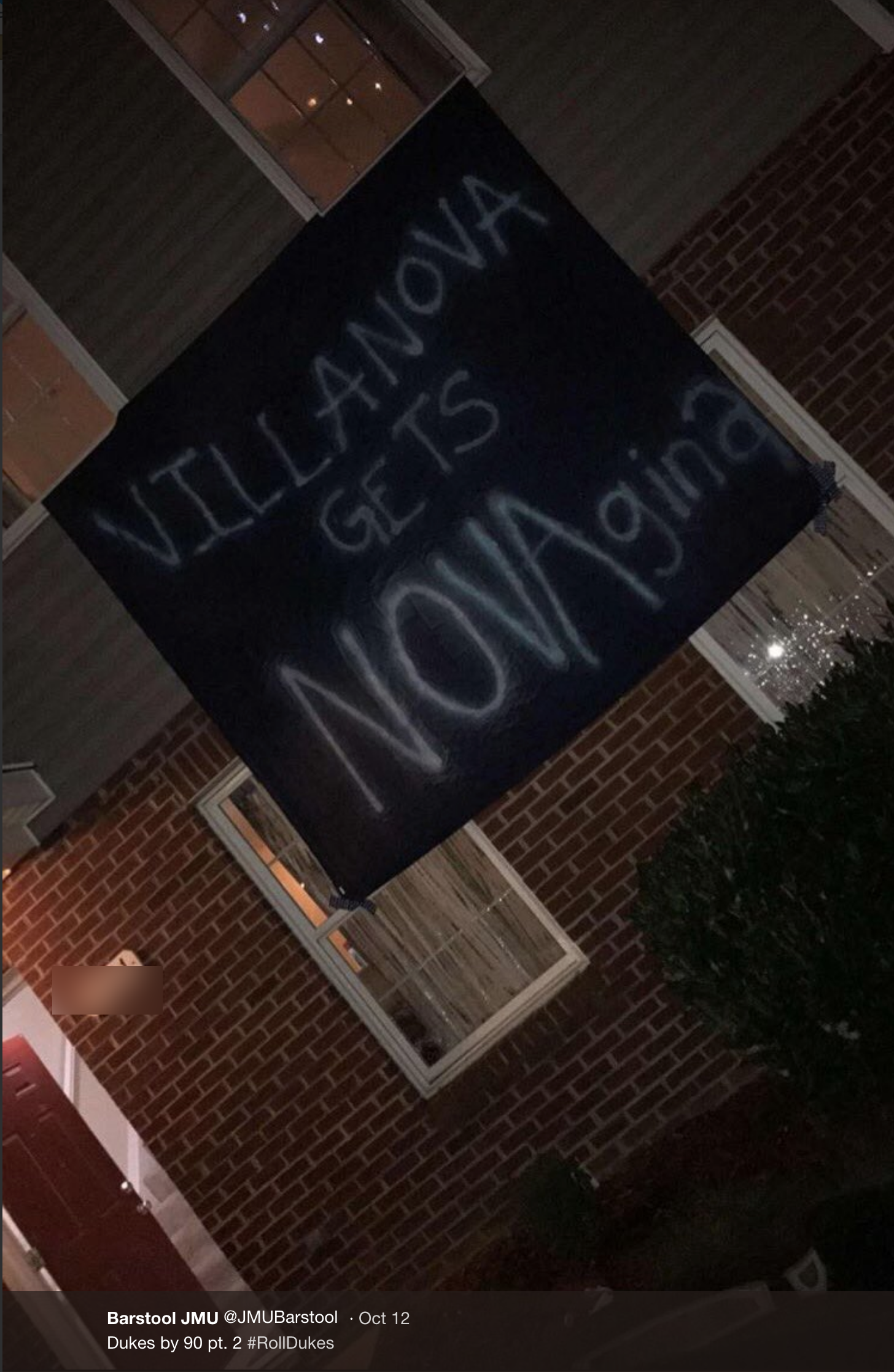 JMU GameDay Sign